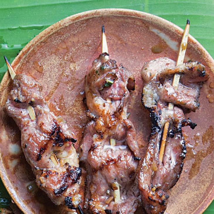 Lemongrass Pork Satay Recipe