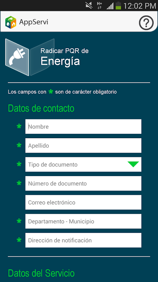 Superservicios AppServi- screenshot