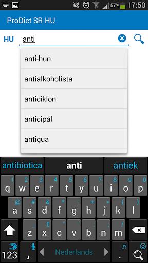 Serbian - Hungarian dictionary