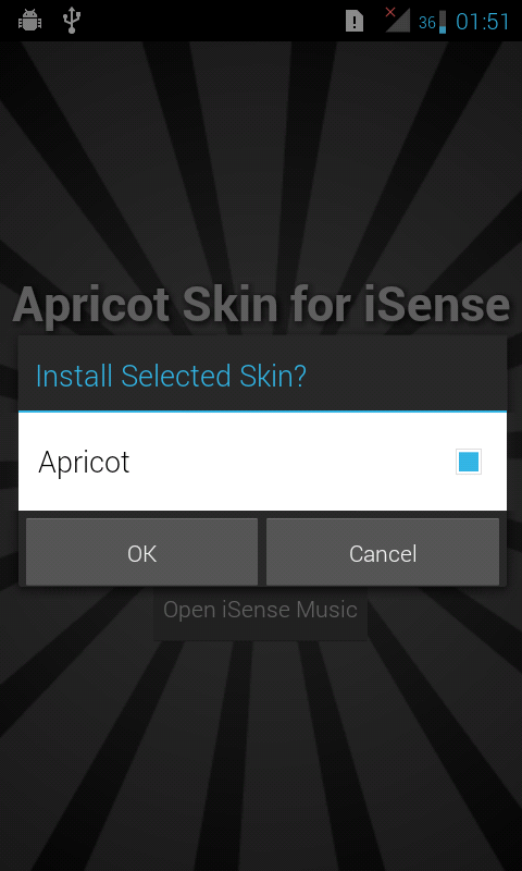 Apricot Skin for iSense Music - screenshot