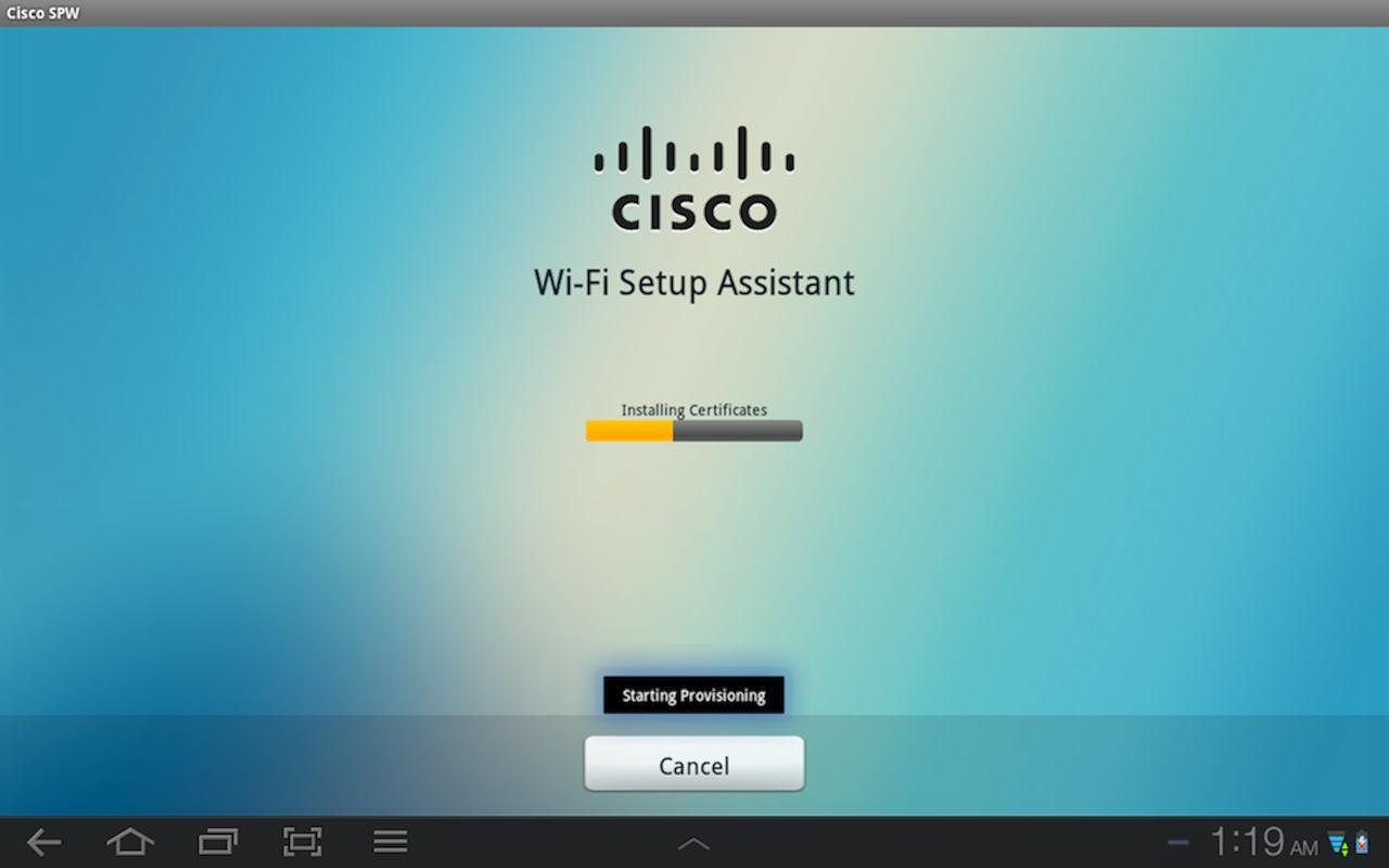 Cisco Network Setup Assistant- screenshot