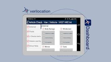 Screenshot of VeriLocation Vehicle Dashboard