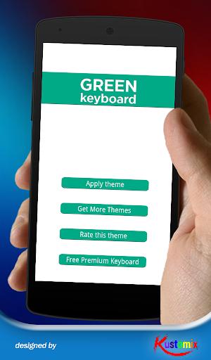 Flat Green Keyboard
