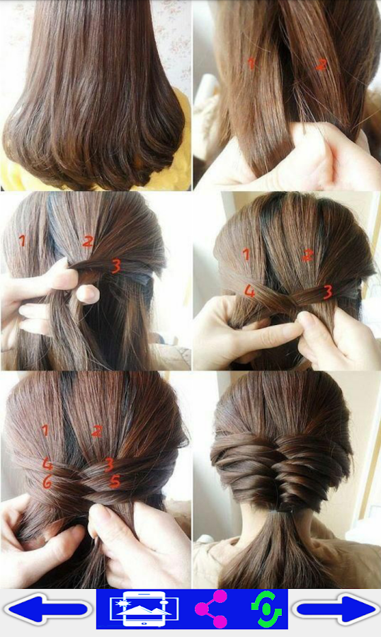Screenshots of step by step- Hairstyles for iPhone