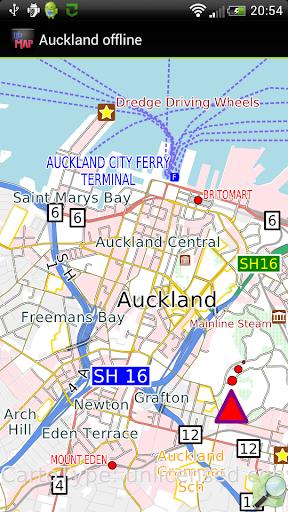 Auckland offline map