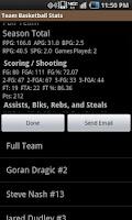 Screenshot of Team Basketball Stats