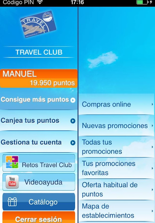 Travel Club App - screenshot