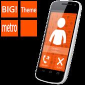 BIG! caller ID Theme MetroOrng