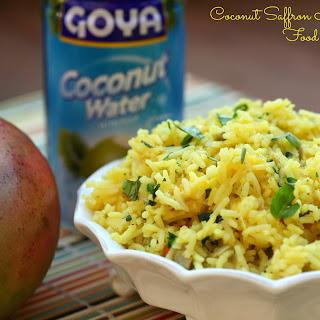 Coconut Saffron Mango Rice