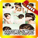 Simple and easy hairstyles icon