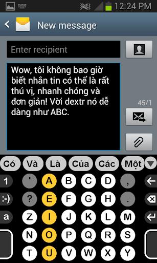 Từ điển tiếng việt cho Dextr