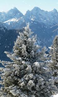 Zimní hory tapety - náhled