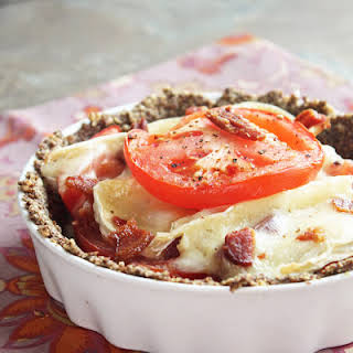 Tomato, Bacon and Brie Tart (Low Carb and Gluten Free).