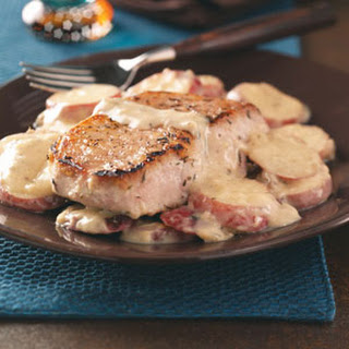 Pork Chops & Potatoes in Mushroom Sauce