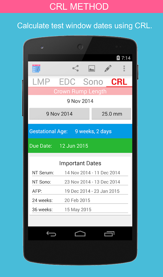 OB Calc Pro (Obstetrician) - screenshot
