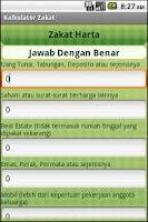 Screenshot of Kalkulator Zakat