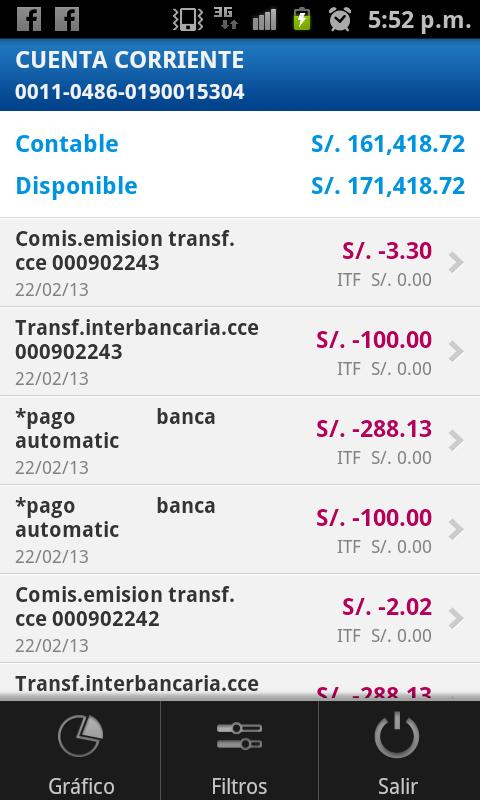 BBVA Continental | Banca Móvil - screenshot