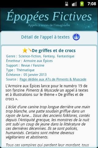 Epopées Fictives- screenshot