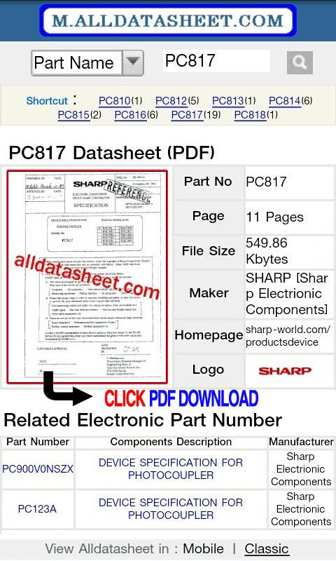 Datasheet (Alldatasheet.com)- screenshot