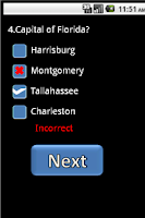 Screenshot of US State Capital - voice quiz