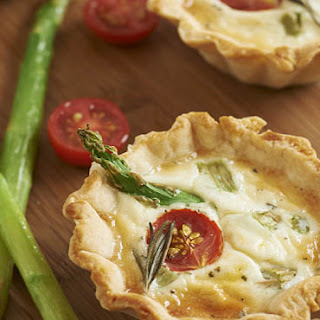 Asparagus and Cherry Tomato Cheese Tarts