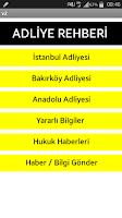 Screenshot of Adliye Rehberi