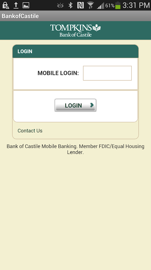 The Bank of Castile Mobile - screenshot