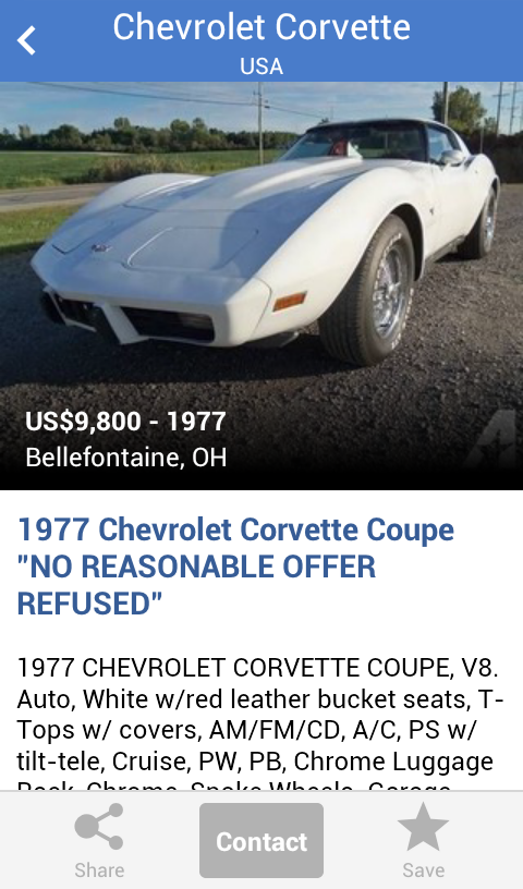 Search for used cars to buy- screenshot
