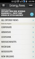 Screenshot of Entergy