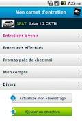 Screenshot of Carnet Entretien Auto