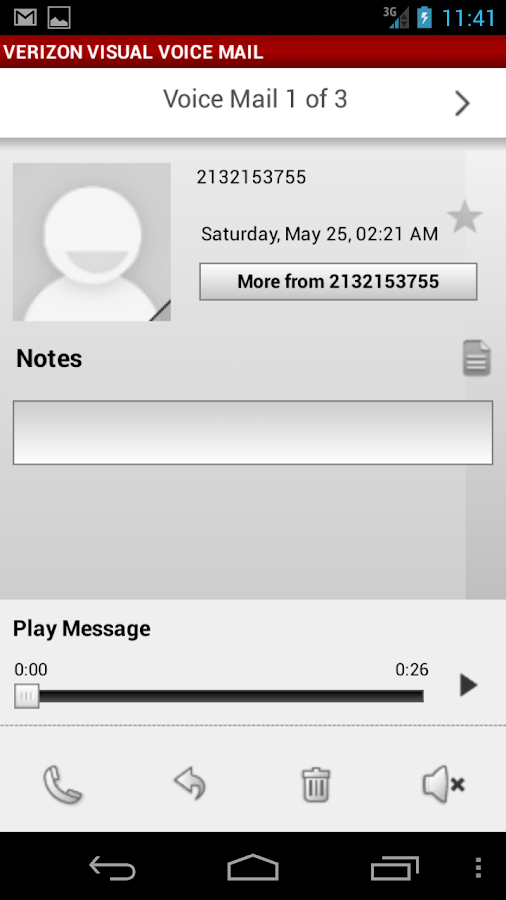 Visual Voice Mail Nexus - screenshot