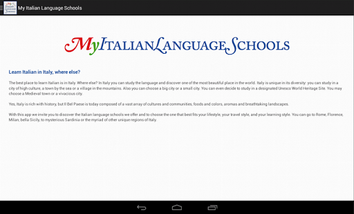 My Italian Language Schools- screenshot thumbnail