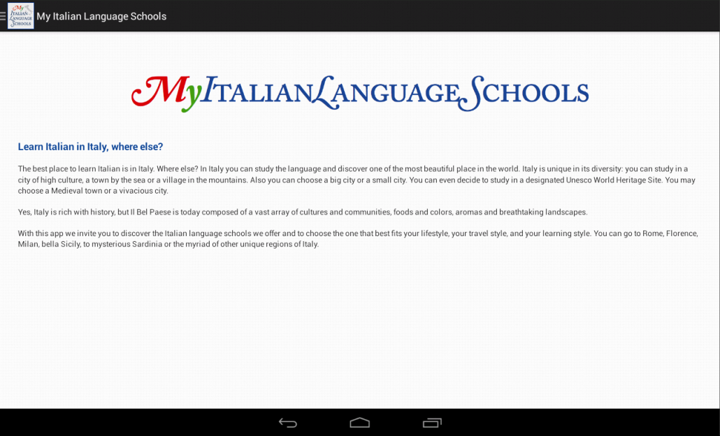 My Italian Language Schools- screenshot