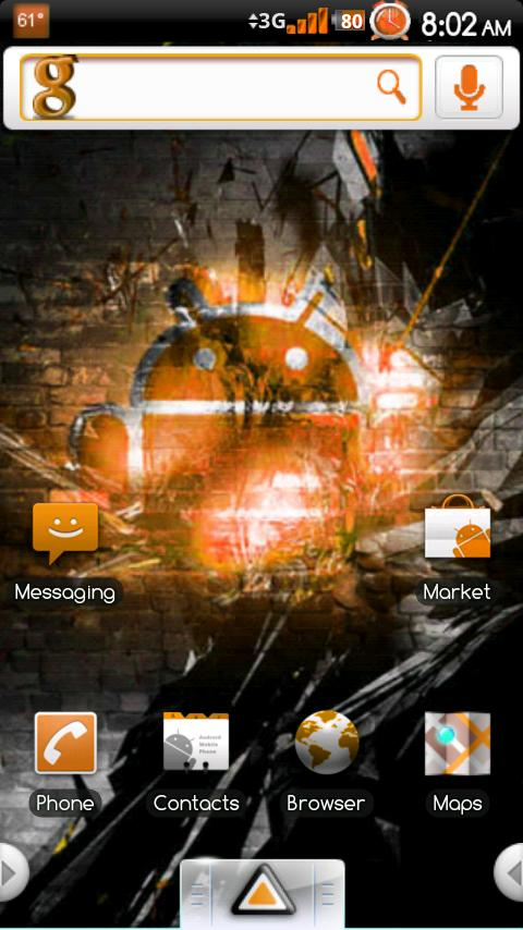 Simply Orange Theme - screenshot