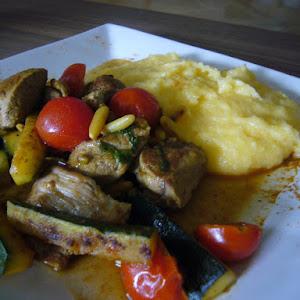 Saute of Lamb Express Polenta