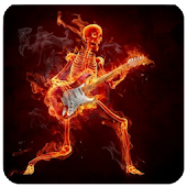 Fire Skeleton Live Wallpaper