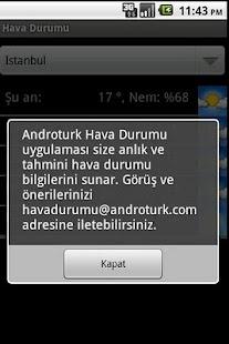 Hava Durumu- screenshot thumbnail