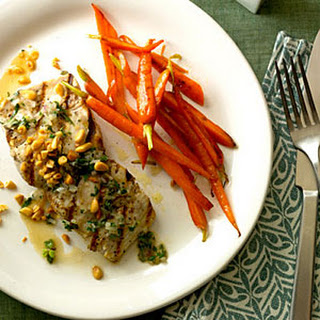 Mahimahi with Herbed White-Wine Sauce