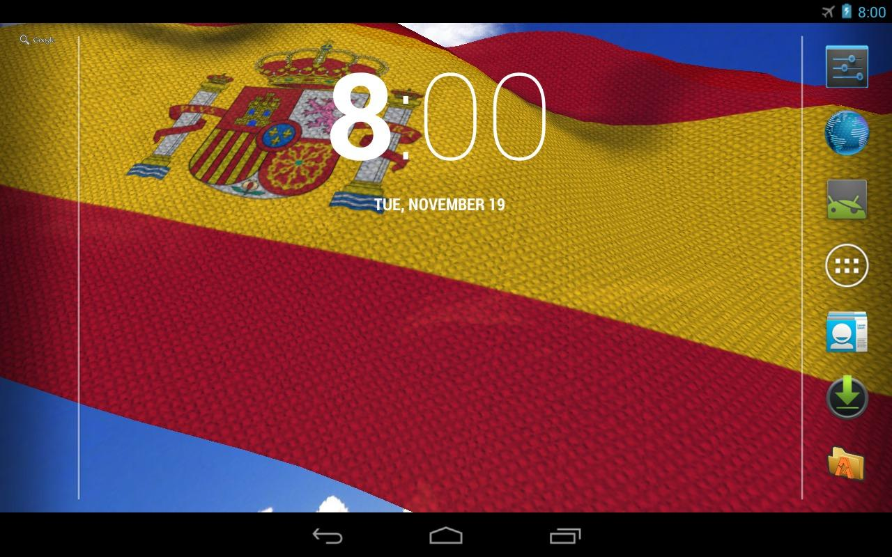 3D Spain Flag Live Wallpaper + - screenshot