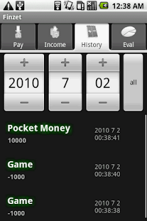 FINZET personal cashbook - screenshot thumbnail