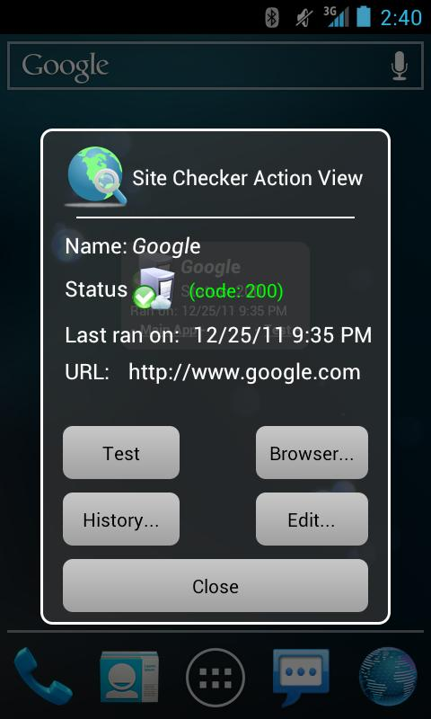 Site Checker - screenshot