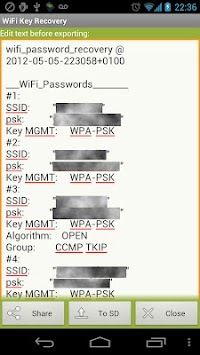 WiFi Key Recovery (needs Root) APK screenshot thumbnail 4