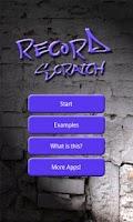 Screenshot of Record Scratch Simulation