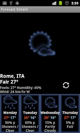 Honeycomb Weather Clock Widget 4.5.0 screenshot 201200