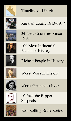 World History Lists 1