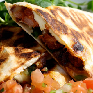 Two-Cheese Chorizo Quesadillas with Watercress