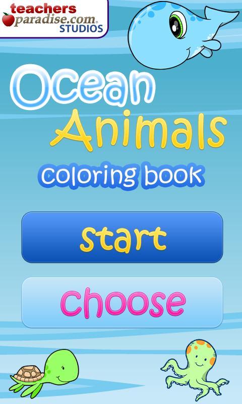 Ocean Animals Coloring Book- screenshot