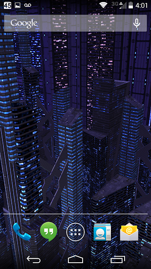 3D LiveWallpaper Dark City Pro - screenshot