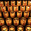 Candles of Devotion by Richard Ho - Abstract Patterns ( candles challenge,  )