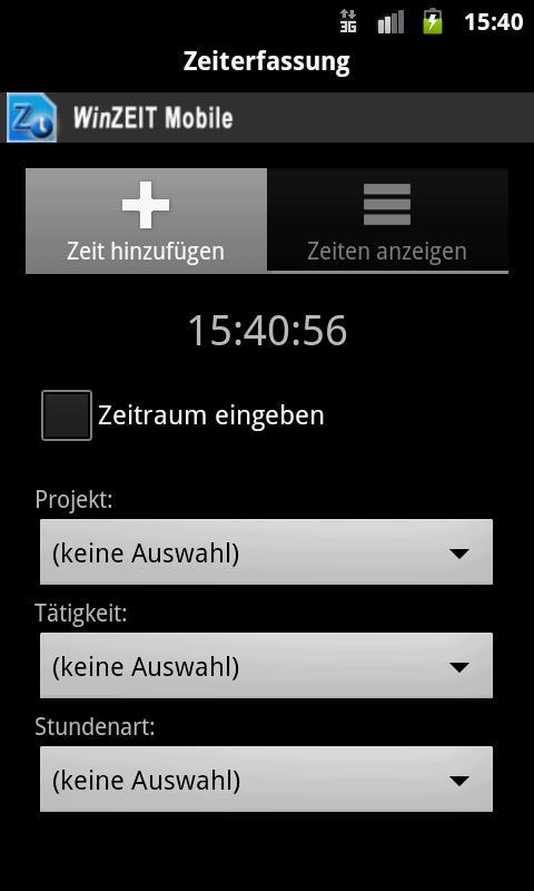 WinZEIT Mobile- screenshot